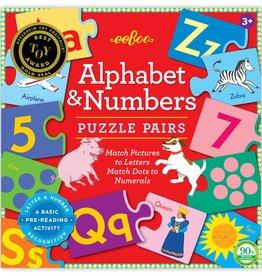 eeBoo Preschool Numbers Puzzle Pairs