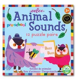 eeBoo Preschool Animal Sounds Puzzle Pairs