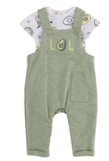 Little Me Avocado Overall Set