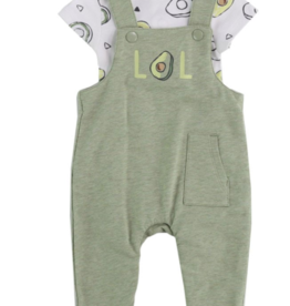 Little Me Avocado Overall Set 3M, 6M