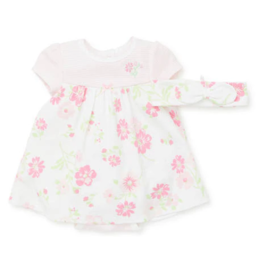 Little Me Floral Bodysuit Dress 9M