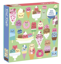 Chronicle Books Puzzle Cat Cafe 500 Pc