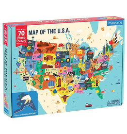 Chronicle Books Map of USA Puzzle