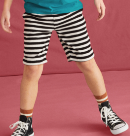 Tea Collection Terry Stripe Shorts Black 4T