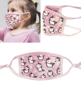 Kids Face Mask Pink Unicorn