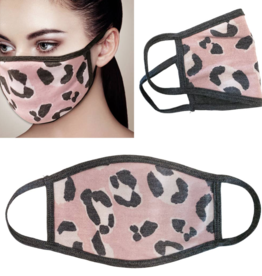 Adult Face Mask Pink Leopard