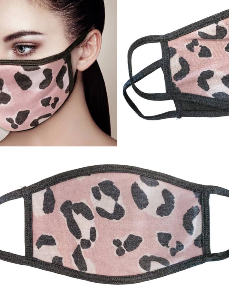 Adult Face Mask Pink Leopard