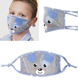 Kids Face Mask Blue Bear
