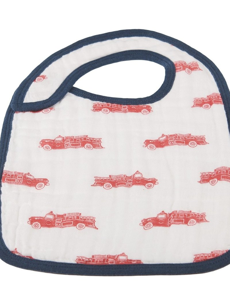 Newcastle Fire Truck & Dalmatian Snap Bib Set 3