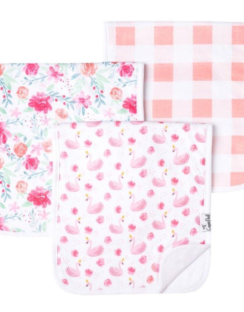 Copper Pearl Burp Cloths June Set of 3