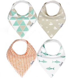 Copper Pearl Bandana Bibs Set/4 Pacific