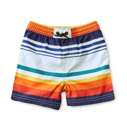 Tea Collection Mid Length Swim Trunks Cairo Stripe 8,10