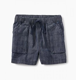 Tea Collection Camp Shorts Blue Chambray 3T, 4T