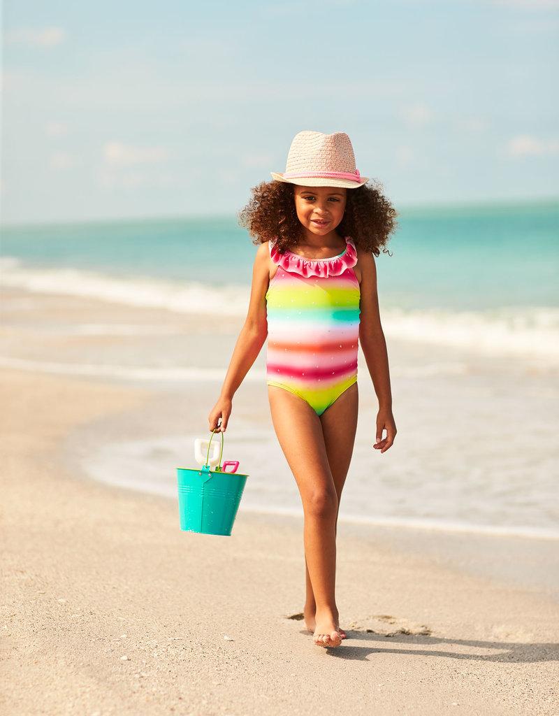 Hatley Shimmer Rainbow Ruffle Swimsuit