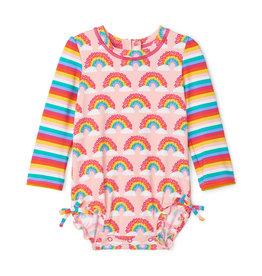 Hatley Rashguard Swimsuit Rainbows 6/9M, 9/12M