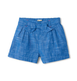 Hatley Belted Shorts Chambray 2-4