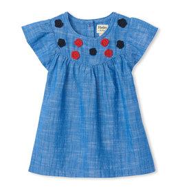 Hatley Flutter Sleeve Dress Chambray 9/12-18/24M