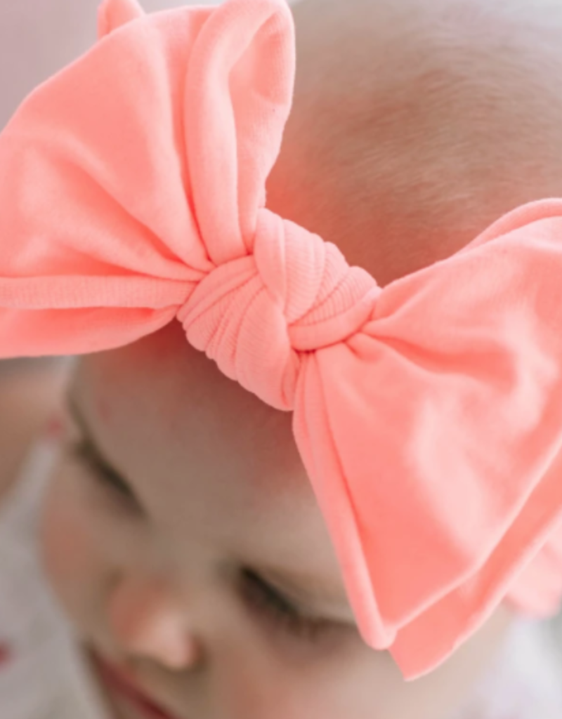 Baby Bling Bow Fab-Bow-Lous Neon Coral