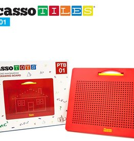 Picasso Tiles Large Magnetic Drawing Board Red
