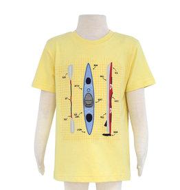 Globaltex Kids S/S Yellow Kayak Print Tee 4-7