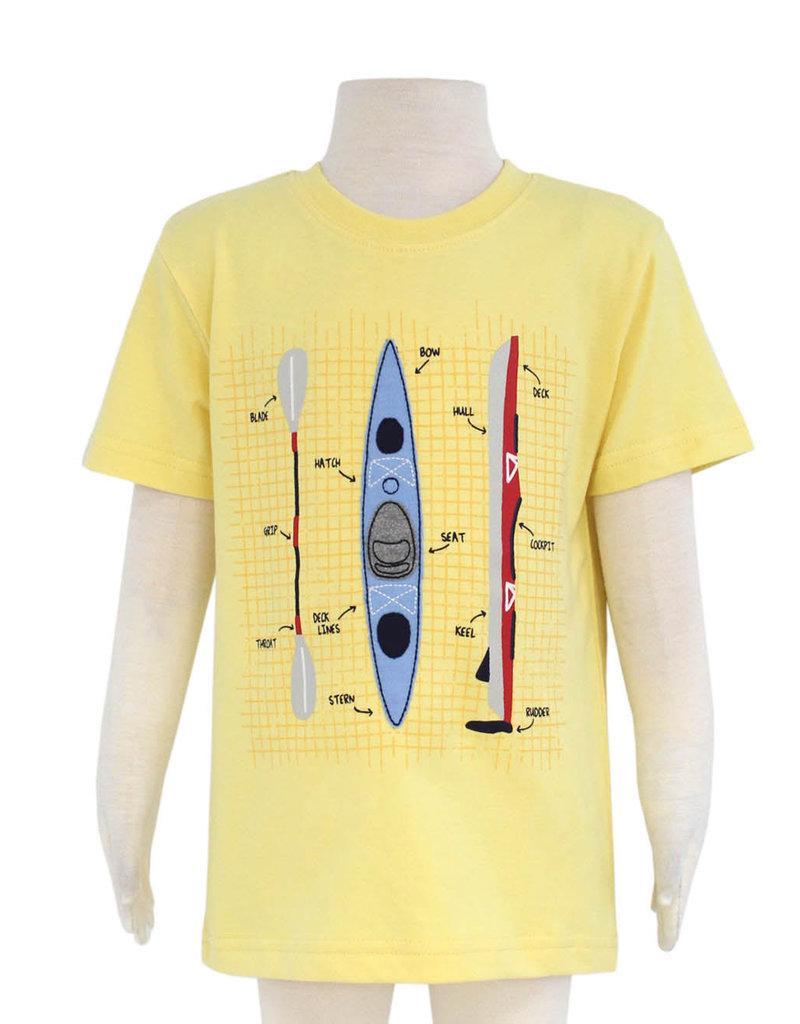 Globaltex Kids S/S Yellow kayak Print Tee