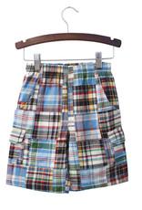 Globaltex Kids Patchwork Plaid Shorts