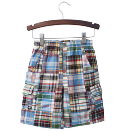 Globaltex Kids Patchwork Plaid Shorts 2T-4T