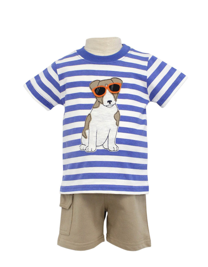 Globaltex Kids S/S Striped Cool Dog Short Set