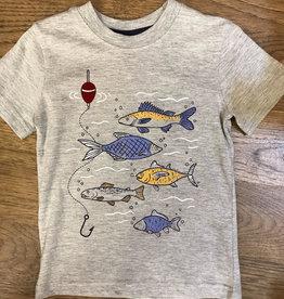 Globaltex Kids S/S Tee Fishing Print 2T-4T