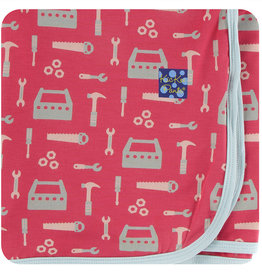 Kickee Pants Swaddle Flag Red Construction