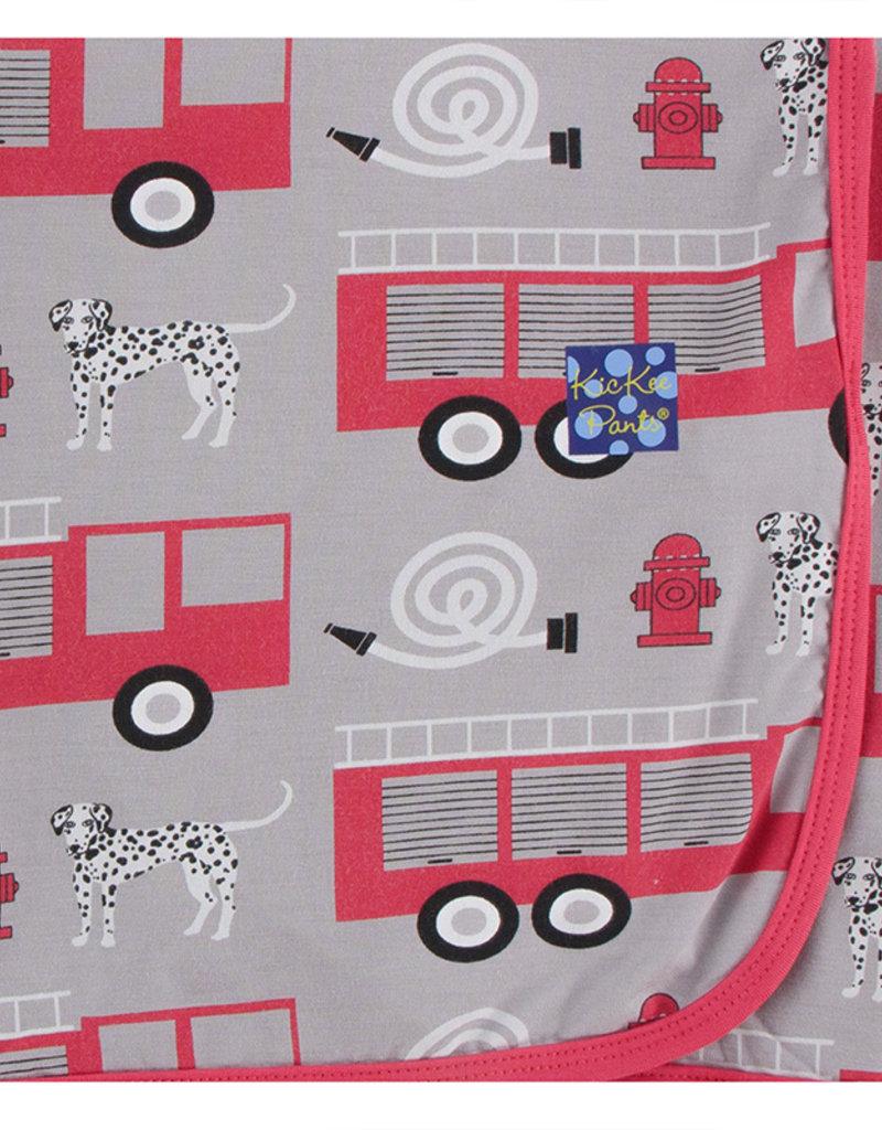 Kickee Pants Swaddling Blanket Feather Firefighter