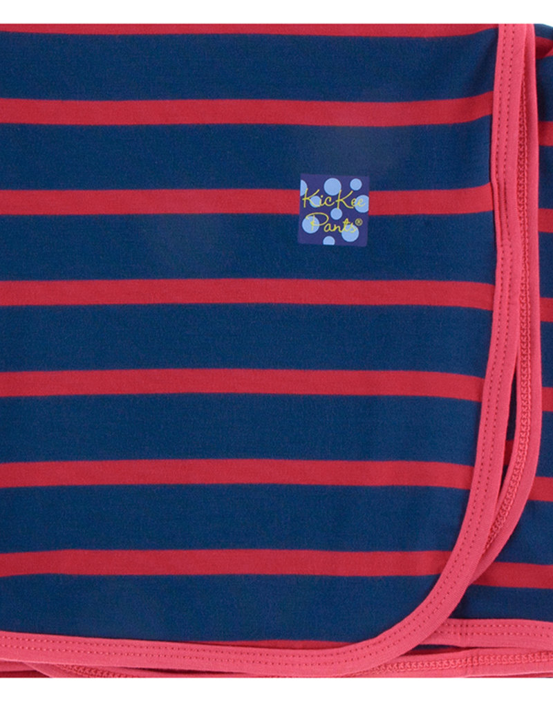 Kickee Pants Swaddling Blanket Everyday Heroes Navy Stripe