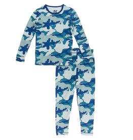Kickee Pants L/S PJ Set Oasis Military 10