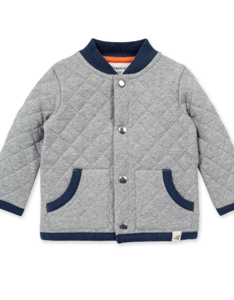 Burt's Bees Heather Grey Quilted Jacket