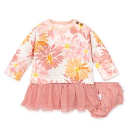 Burt's Bees Autumn Picks Tulle Dress w/Diaper Cover 12M-24M