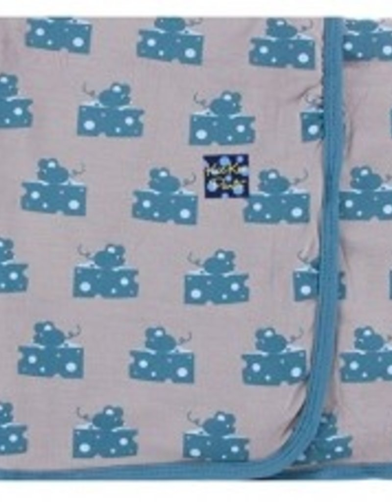 Kickee Pants Swaddle Feather Mouse and Cheese