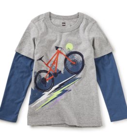 Tea Collection Heavy Pedal Layered Graphic Tee 2T-4T