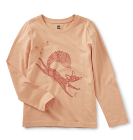 Tea Collection Fox Trot Graphic Tee 3T, 4T