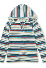 Tea Collection Striped Happy Hoodie Mint Chip