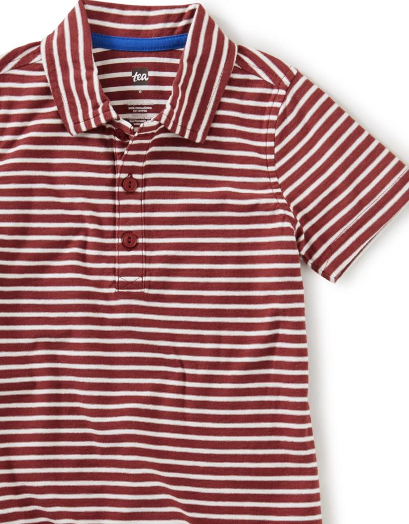 Tea Collection Striped Polo Cordovan