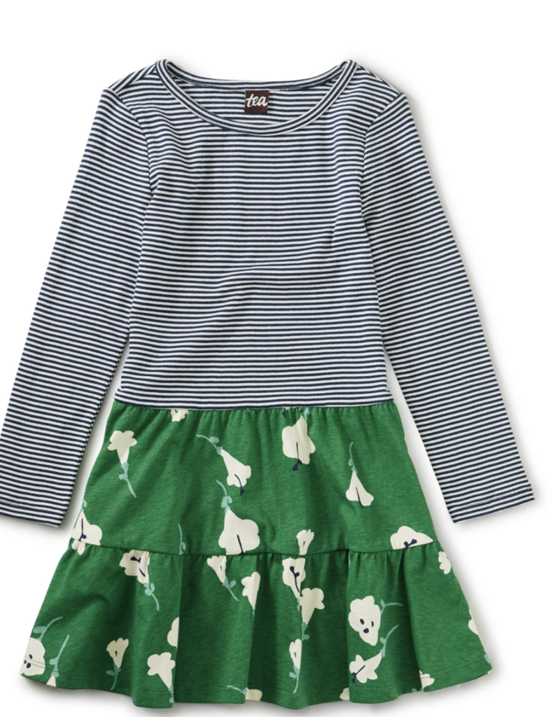 Tea Collection Tiered Skirted Dress Very Verde
