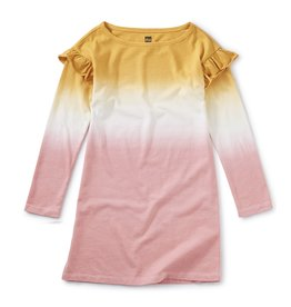 Tea Collection Dip Dye Ruffle Dress 8, 10