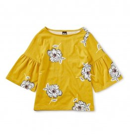 Tea Collection Bell Sleeve Top Blooming 8-12