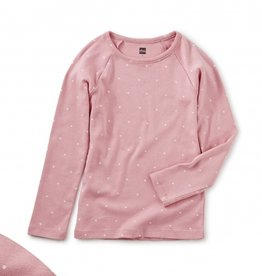 Tea Collection Dot Purity Tee Mauve Glow 2T-4T