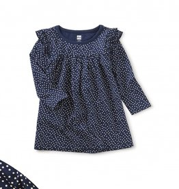 Tea Collection Ruffle Shoulder Baby Dress 3/6M-9/12M