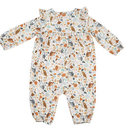 Angel Dear Autumn Owls Ruffle Romper 0/3M, 3/6M