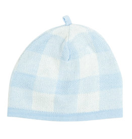 Angel Dear Gingham Beanie Blue 0/3M