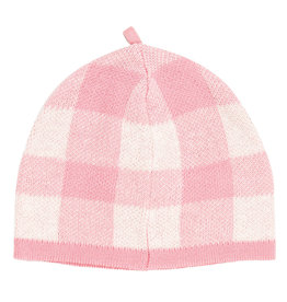 Angel Dear Gingham Beanie Pink 0/3M