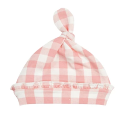 Angel Dear Gingham Pink Knotted Hat 0/3M