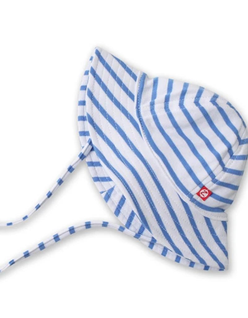 Zutano Breton Stripe Sun Hat Periwinkle